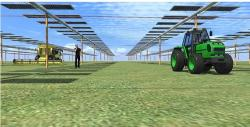 Solar panels on the same land and crops