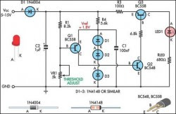 Rail Detect Voltage - LED Circuit