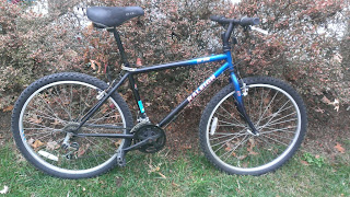 1997 blue raleigh m20 mountain bike