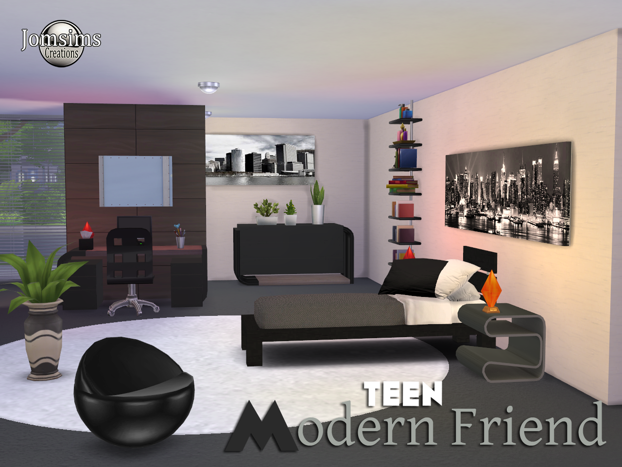Jomsimscreations blog hello friends a new bedroom sims 4 for Bedroom designs sims 4