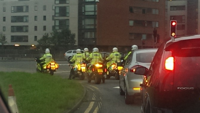Police on motorbikes