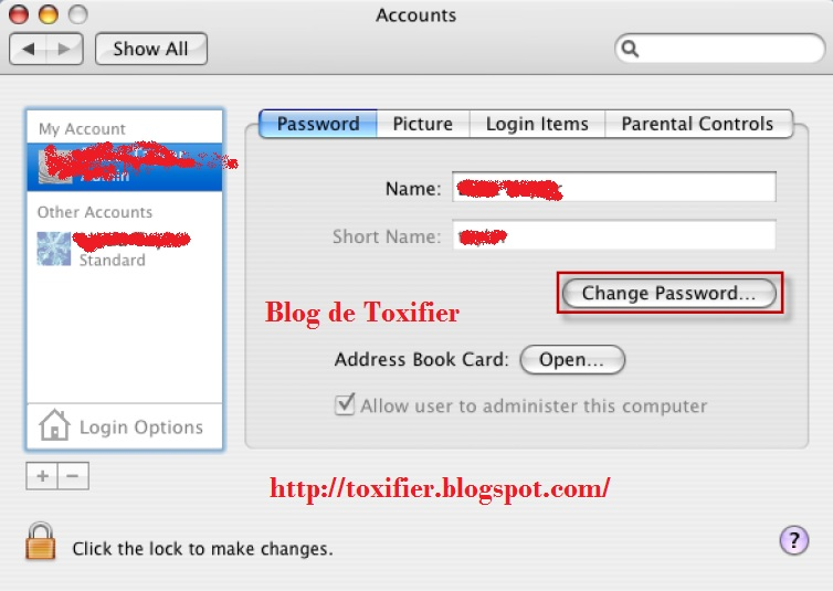 how to change a individual keychain password on a mac