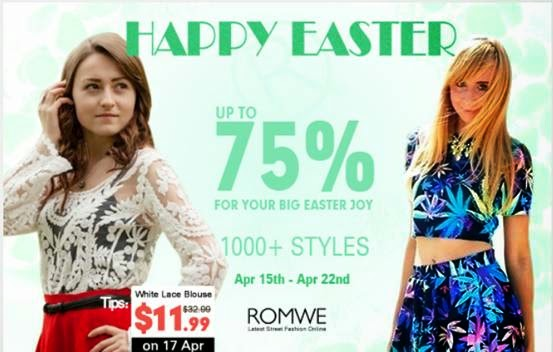 easter promotion on romwe