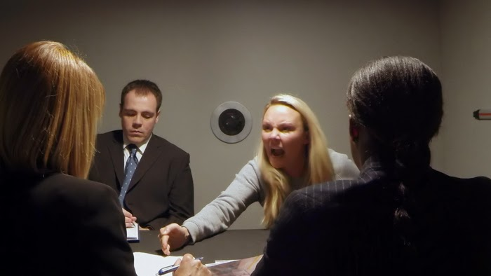 Suspects: Tanya Morton (Charlie Brooks) is interviewed by Martha (Fay Ripley)