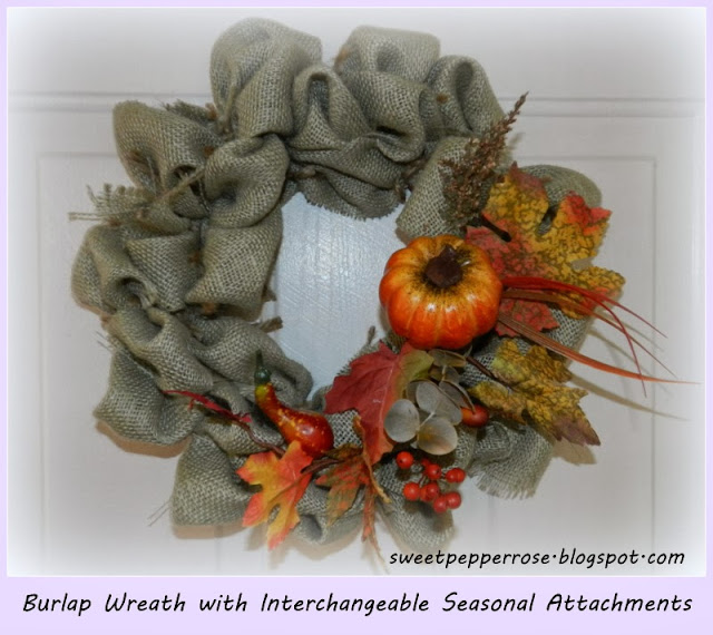 Interchangable Burlap wreath