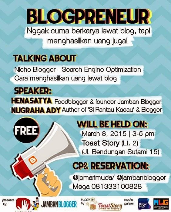 Poster Blogpreneur