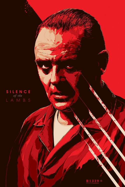 Ken Taylor illustrations movie posters silkscreen The Silence of the Lambs