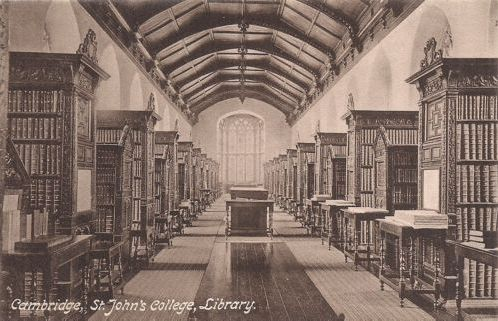 St John's College Library interior 1909