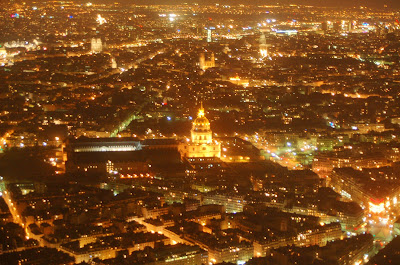 View from Eiffel Tower at Night