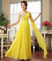 Dangling Sequin One Shoulder Goddess Dress