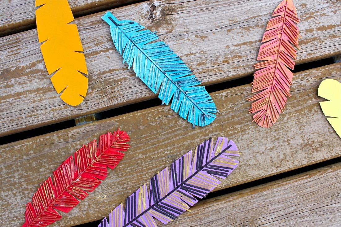 Construction Paper Turkey Feathers Contoh Desain Rumah