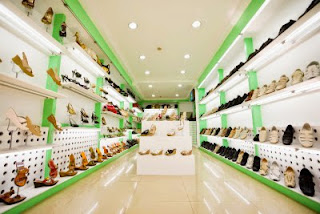 interior of a huge shoe shop