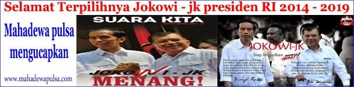 untuk posting selamat atas terpilihnya joko widodo dan jusup kala sebagai presiden indonesia