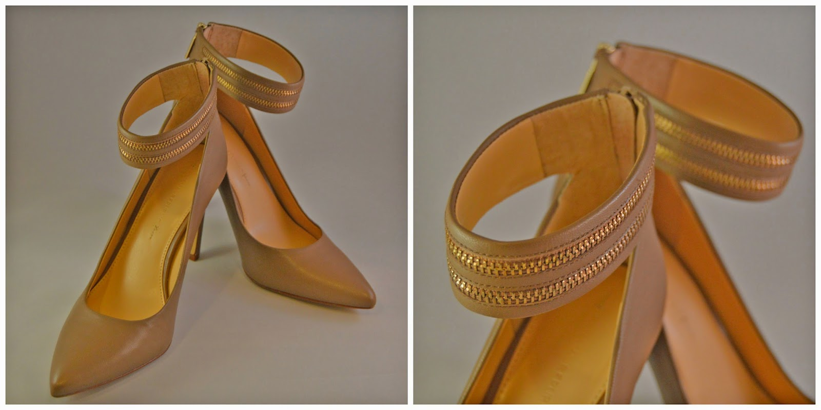 Winter Sales- Nude Zipper Detail Pumps from Banana Republic