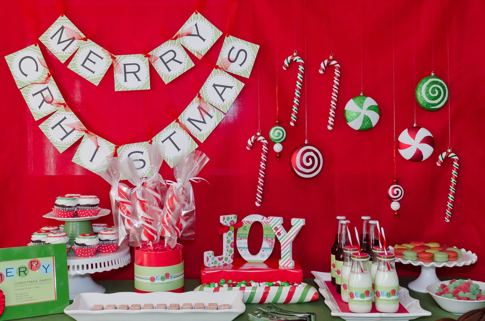 Ideas For Christmas Theme Party Part - 38: Christmas Decorations Party : Kara S Party Ideas Christmas Card Writing