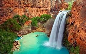 Why do waterfalls appear in white in color