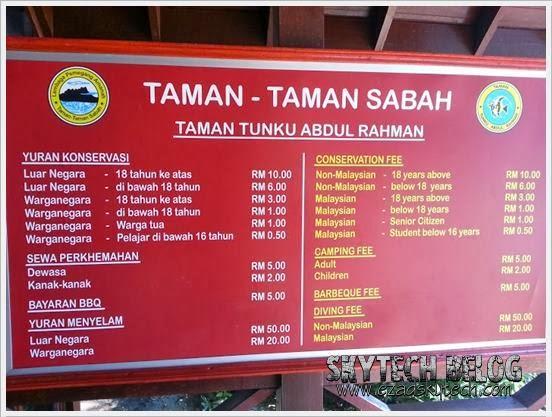 Visit Malaysia 2014 - Yuran Konservasi Tunku Abdul Rahman Park