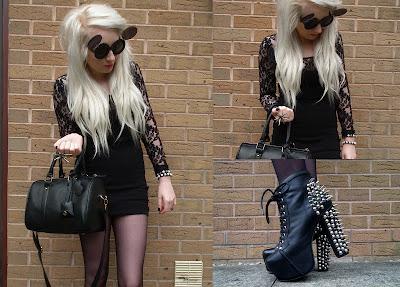 Sammi Jackson - Black lace & spikes