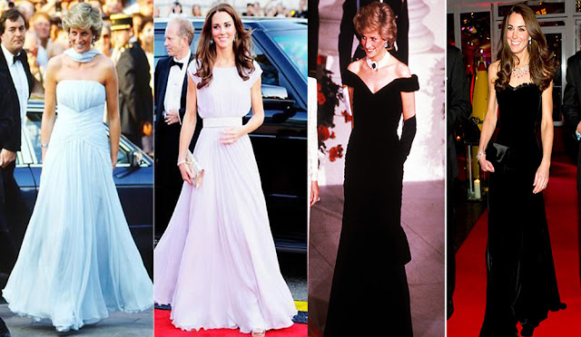 Kate Middleton vs Diana de Gales