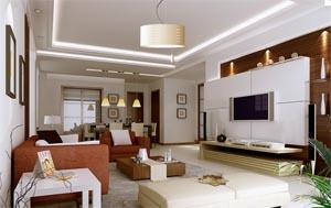 Consigli e idee per illuminare un soggiorno sun estetic for Faretti casa classica