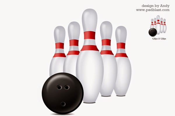 PSD Bowling Icon