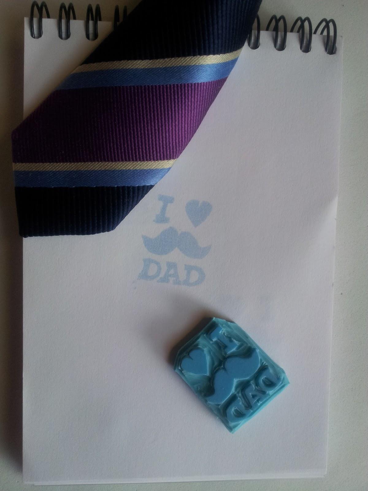 sello hecho a mano, yo amo a mi padre