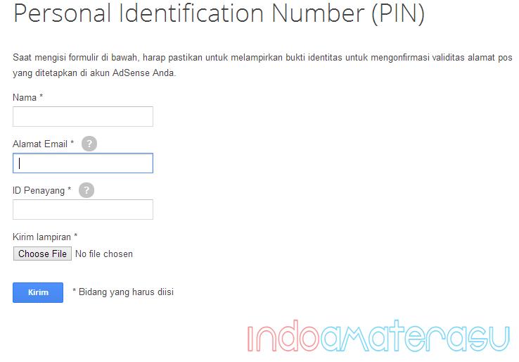 Cara Reques PIN Google Adsense Dengan Scan KTP 3