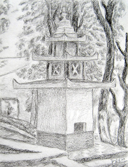 Sketch of a Simple Hindu Temple