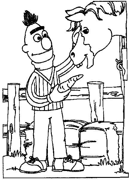 Bert and ernie cartoon characters coloring sheet | Coloring Pages Online