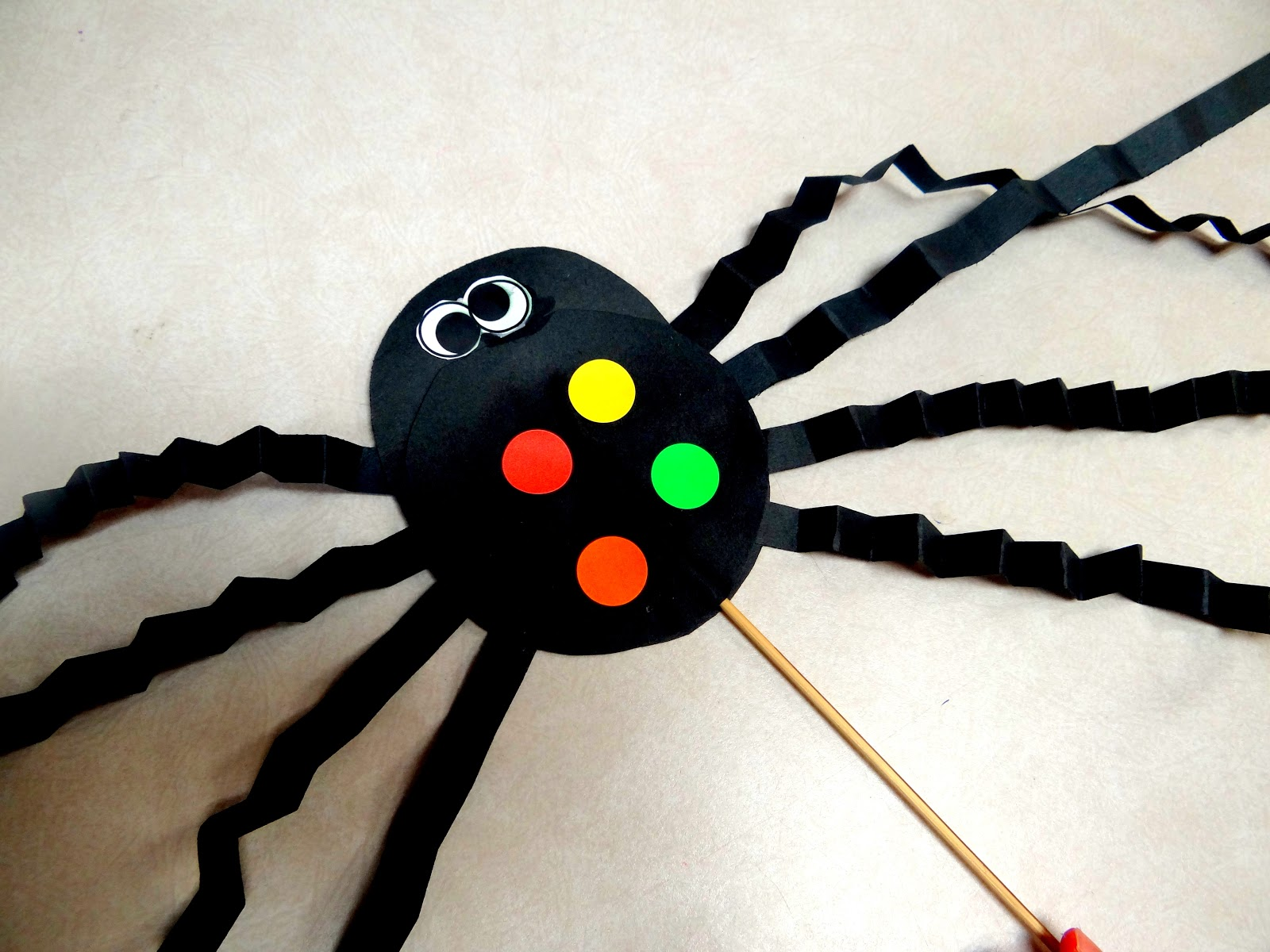 Here Is One Of Our Cute SPIDER ART PROJECTS
