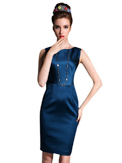 desain dress pesta elegan masa kini
