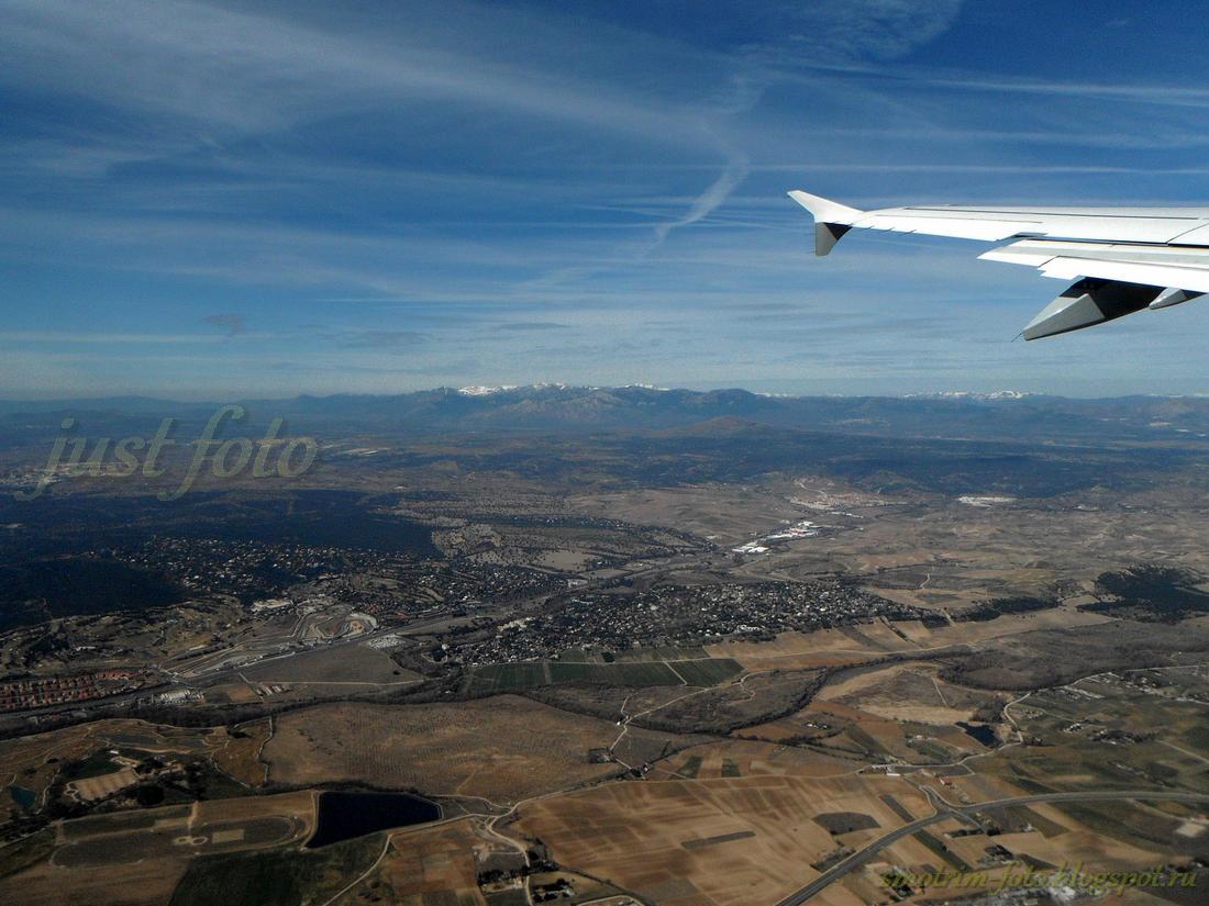 Подлетая к Мадриду