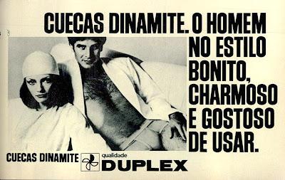 propaganda cuecas Dinamite - Duplex - 1975, 1975, Moda anos 70; propaganda anos 70; história da década de 70; reclames anos 70; brazil in the 70s; Oswaldo Hernandez
