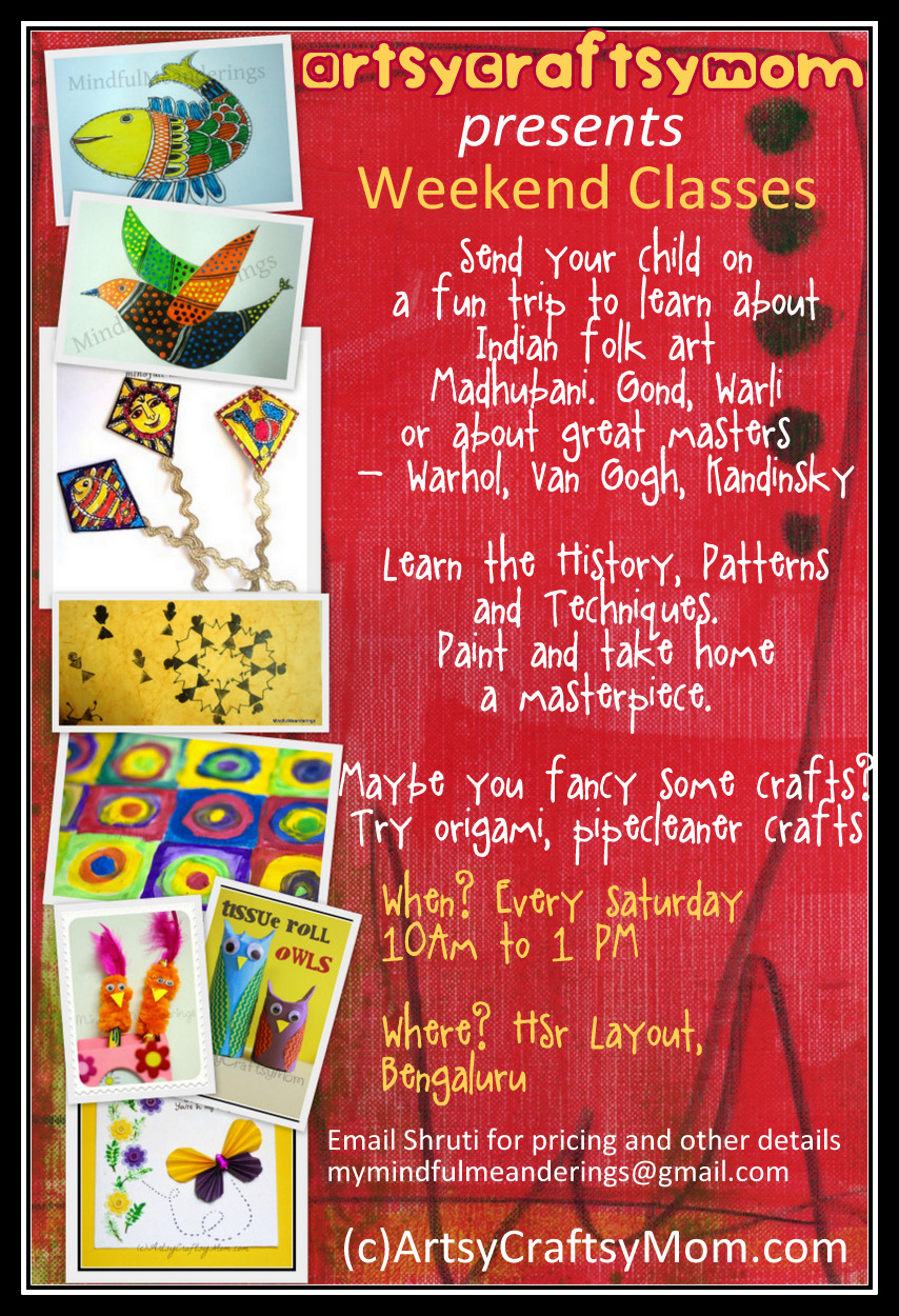 weekend art craft classes artsy craftsy mom On arts and crafts workshops