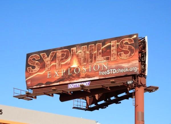 Syphilis Explosion volcano billboard