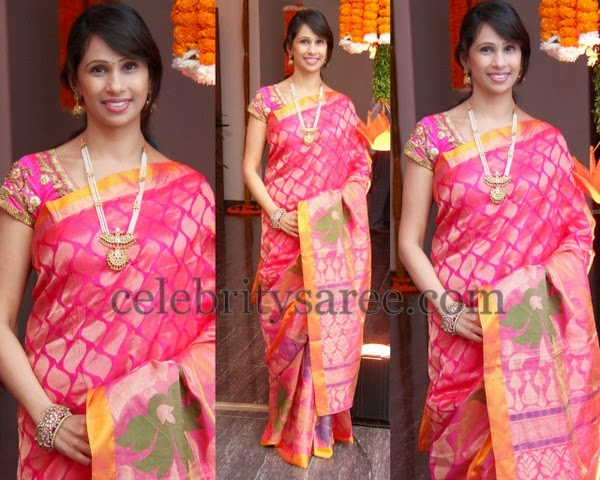 Pink Color Kollam Pattu Saree
