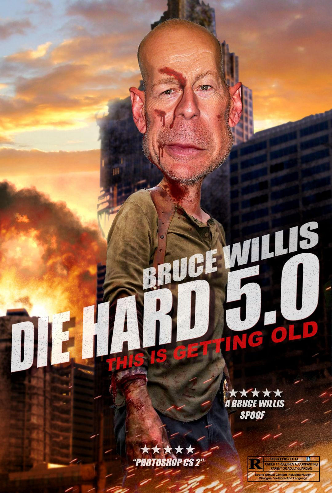Bruce Willis Spoof Movie Posters