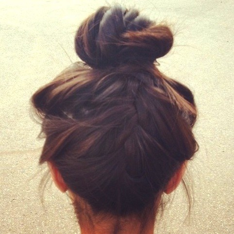 Upside Down French Braid Messy Bun Love My Hairstyle: How...
