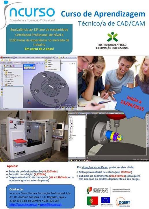 Curso de aprendizagem remunerado: CAD / CAM – Vale de Cambra