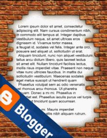 Пост с фоном картинкой и логотип Blogger