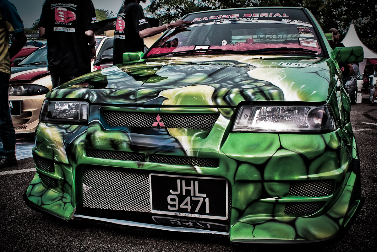 car show. If you would like to see other modified car with Green Hulk