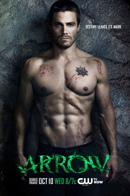 Stephen Amell shirtless promo for ARROW
