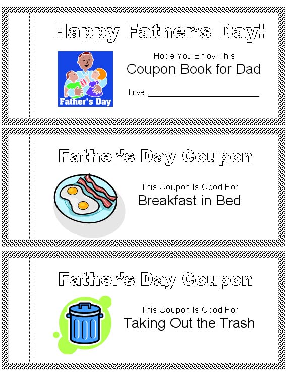 Good father's day coupon ideas