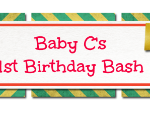 Happy 1st Birthday Baby C! Custom Chalk Creations {Review & Giveaway}