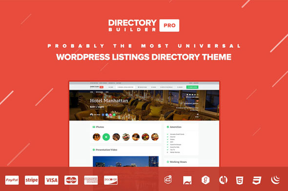 Free Download Creative Market Directory Builder Pro Wordpress Theme