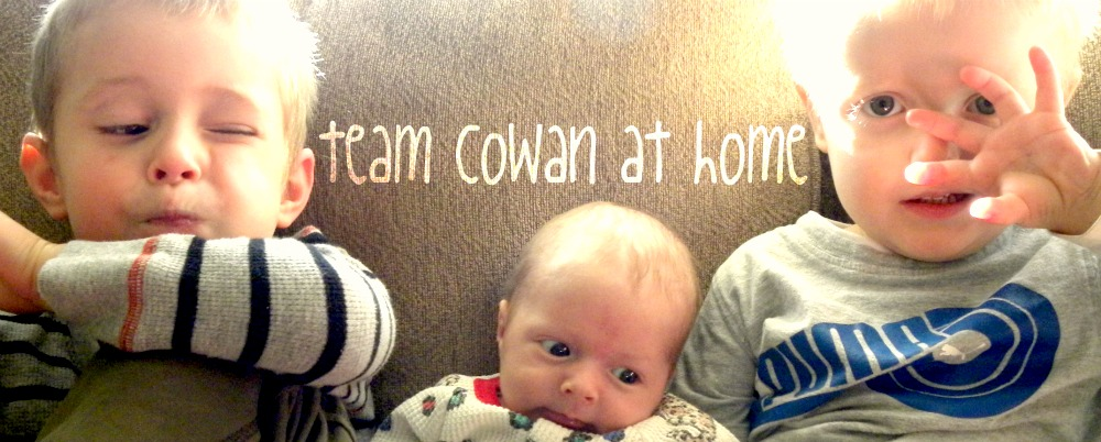team cowan at home