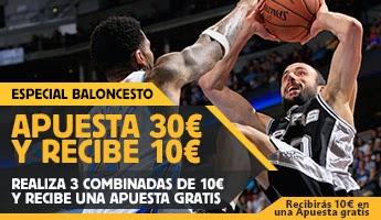 betfair bono 30 euros combinadas baloncesto 5-8 marzo