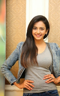 Actress Rakul Preet Singh Pictures in Jeans at Rough Movie Success Meet  47