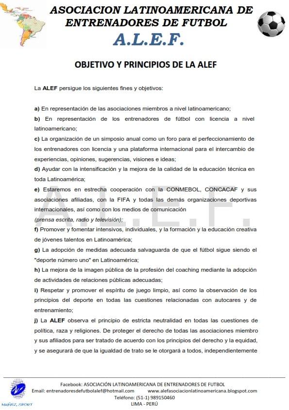 OBJETIVOS Y PRINCIPIOS DE LA ALEF