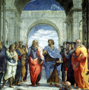 The greek philosophers plato and aristotle